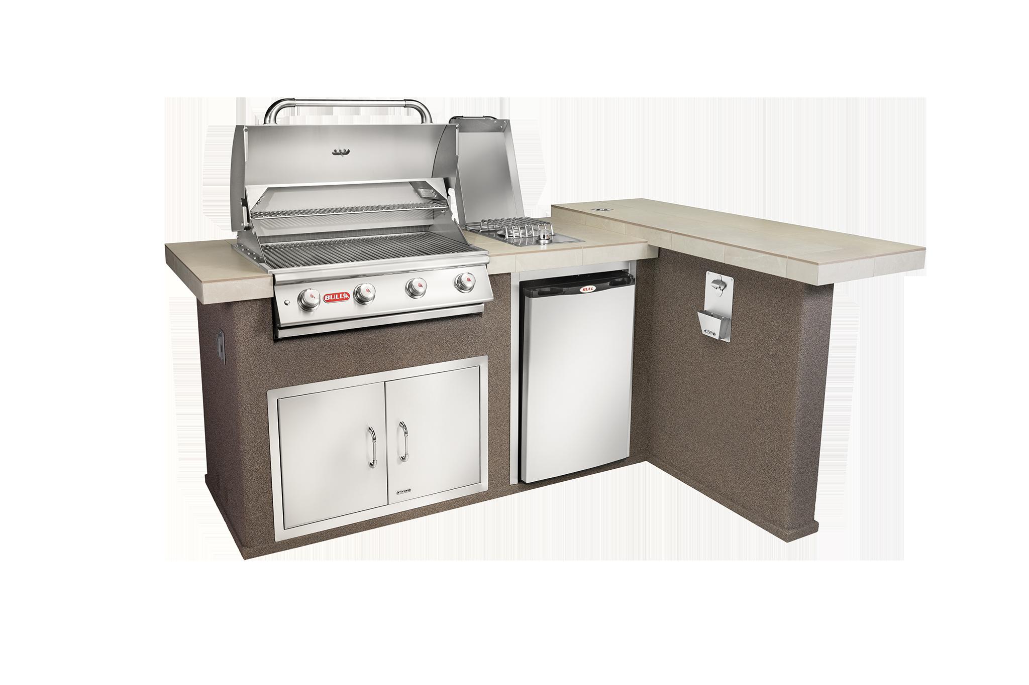 Luxury Q Outdoor Island Kitchen