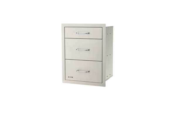 stainless steel triple drawer system